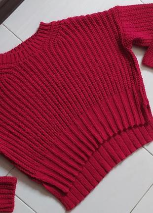 Вязаный свитер/ свитер/ свитшот / тёплый / яркий /parkhande