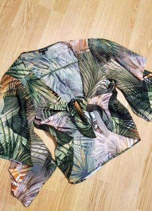 Накидка / блуза river island  принт пальмы
