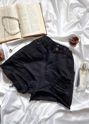 Знижка останній день 🔥тренд сезону🔥круті джинсові шорти на високій посадці з рванностями boohho1 фото