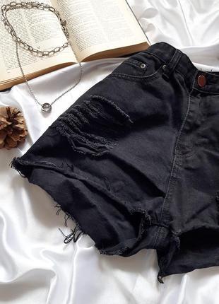 Знижка останній день 🔥тренд сезону🔥круті джинсові шорти на високій посадці з рванностями boohho3 фото