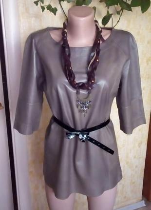 Эксклюзив! 100% кожаная рубашка+ колье/пиджак/куртка/блузка/свитер/платье/юбка/джинсы