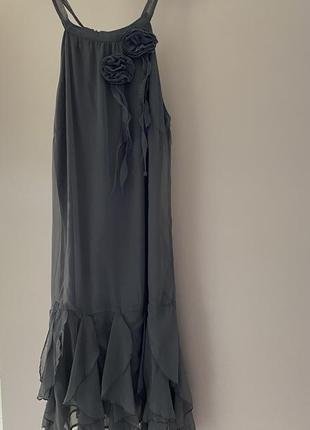 Стильное платье сарафан италия модное недорого скидки