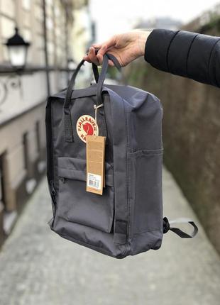 Рюкзак канкен классик серый /женский мужской / жіночий чоловічий портфель kanken classic