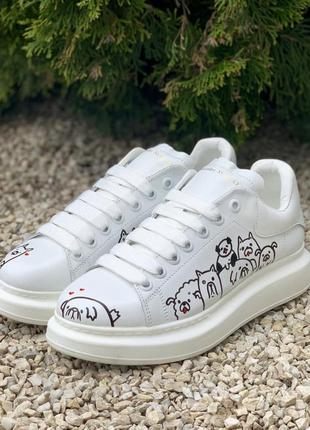 Кросівки alexander mcqueen oversized white/dog