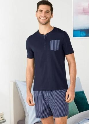 Мужская пижама, футболка, шорты, костюм, м 48-50, livergy, германия