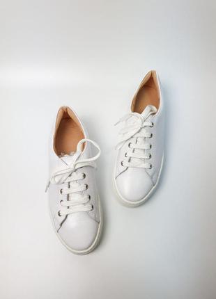Кроссовки белые натуральная кожа женские кеды кросівки білі шкіра жіночі5 фото
