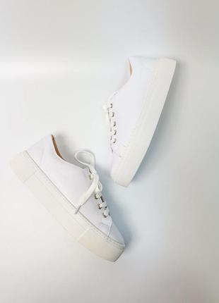 Кроссовки белые натуральная кожа женские кеды кросівки білі шкіра жіночі4 фото