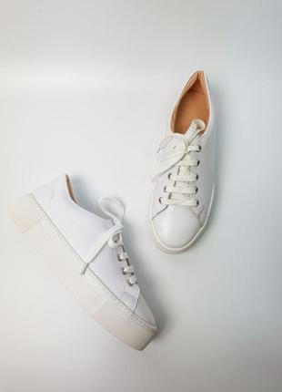 Кроссовки белые натуральная кожа женские кеды кросівки білі шкіра жіночі6 фото