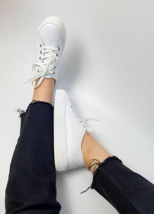 Кроссовки белые натуральная кожа женские кеды кросівки білі шкіра жіночі10 фото