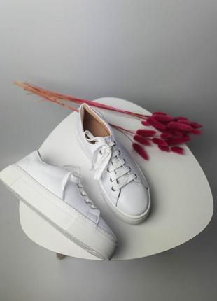 Кроссовки белые натуральная кожа женские кеды кросівки білі шкіра жіночі3 фото