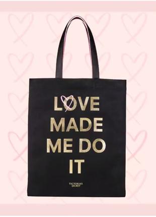 Сумка, шоппер, пляжная сумка викториас сикрет, *love tote* victoria's secret
