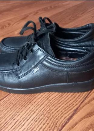 Кожаные туфли мокасины ботинки1 фото