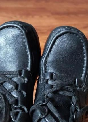 Кожаные туфли мокасины ботинки6 фото