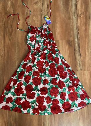 Sale❗️летний сарафан хлопок, сукня літня бавовна, платье летнее на брителях хлопок