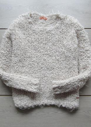 Объемный пушистый джемпер свитер овечка травка от novo style