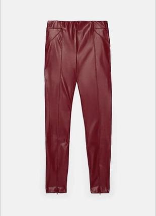 Штаны, брюки, легинсы из эко-кожи zara2 фото