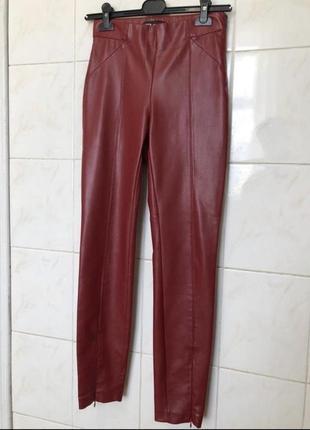 Штаны, брюки, легинсы из эко-кожи zara3 фото