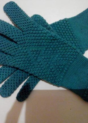 Перчатки зимние подростковые 100% шерсть