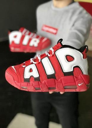 Кросівки жіночі nike air more uptempo 🍏 найк аптемпо червоні