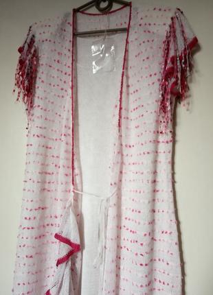 Накидка/кардиган/платье с коротким рукавом на запах