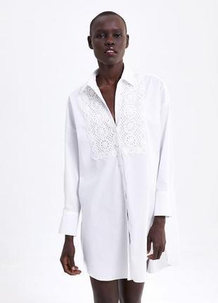 Нова сукня-туніка zara з натуральної бавовни з макраме