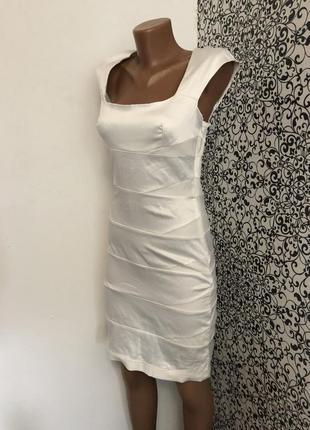 💫летнее белое котоновое платье lila