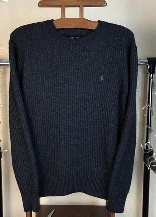 Шерстяной свитер allsaints lymore ls crew vn4
