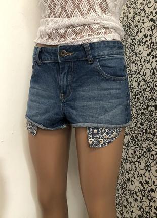 💫джинсовые мини/ короткие шорты new look