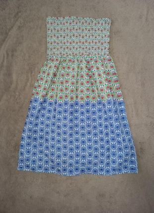 Натуральный сарафан платье