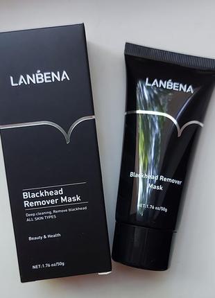 Маска для лица lanbena blackhead remove mask от черных точек 50g