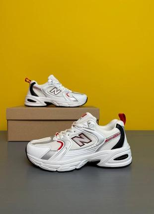 Женские кроссовки new balance 530 white/ red