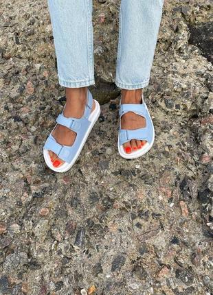 Босоножек на липучках сандали натуральная кожа замша