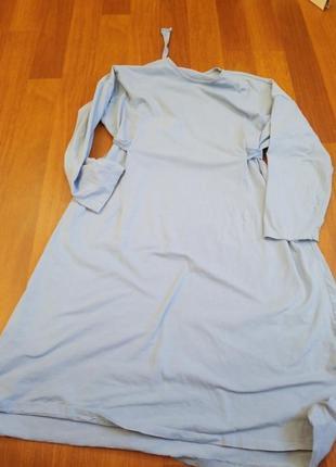 Натуральное спортивное трикотажное  платье