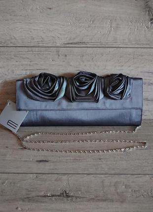 Новая сумка клатч на цепочке текстиль испания e.ferri bolso glamour cris