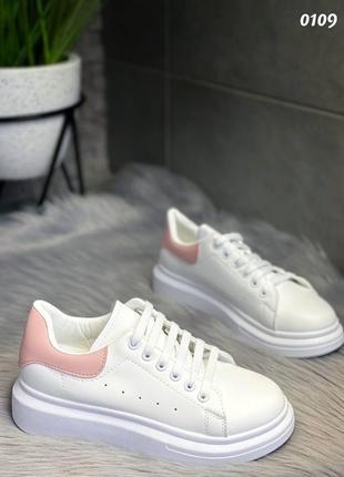 Кеды белые в стиле puma 01095 фото