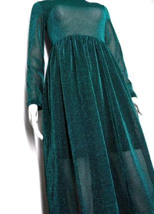Мерцающее вечернее платье миди от shein size m