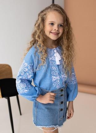 Новинка! блузка-вышиванка с вышивкой орнамент