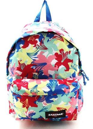 Рюкзак eastpak в цветах гавайский стиль цветочный принт