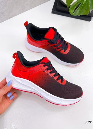 Рр 36-41.женские красные черные спортивные кроссовки кеды
