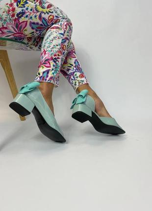 Лаковані босоніжки бант туфлі шкіряні