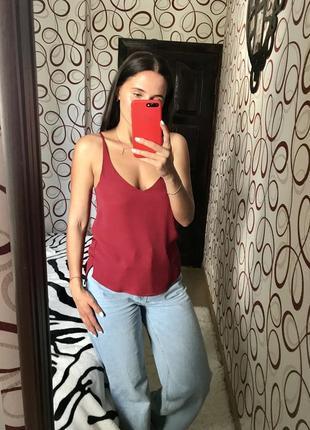 Актуальная блуза блузка майка в бельевом стиле тренд 2021 шифон