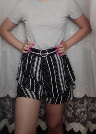 Шифоновые шорты-юбка