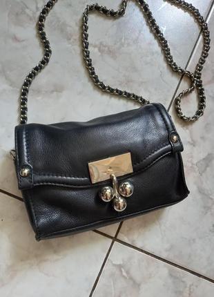Кожанная сумочка кросбоди