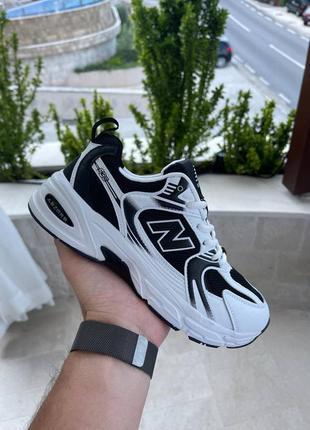 Женские кроссовки new balance 530 white/ black / жіночі кросівки білі