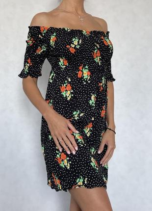 Платье zara в цветочный принт