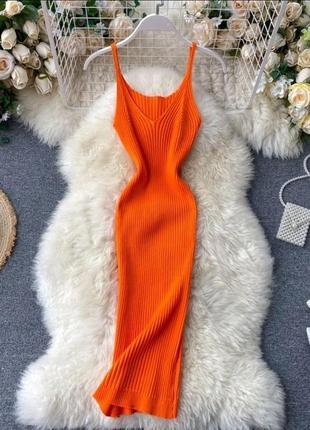 Базовое платье с идеальной посадкой в рубчик