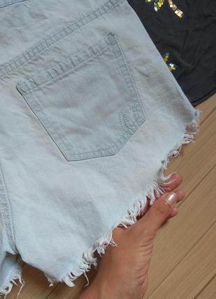 Шорты джинсовые мом в голубом дениме factorie ☀️ 42р6 фото
