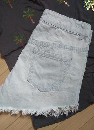 Шорты джинсовые мом в голубом дениме factorie ☀️ 42р7 фото