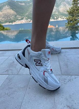 Женские кроссовки new balance 530 white/ red / жіночі кросівки