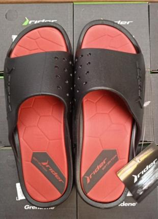 Шлёпанцы мужские rider bay ix модель 83060 black/red 24492 (100% - оригинал)  made in brazil. ipanema